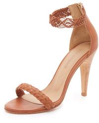 Sandales à talons en cuir marron clair Ulla Johnson