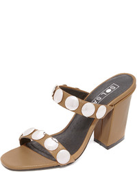 Sandales à talons en cuir marron Sol Sana