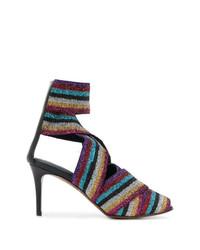 Sandales à talons en cuir multicolores Circus Hotel