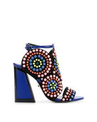 Sandales à talons en cuir multicolores Kat Maconie