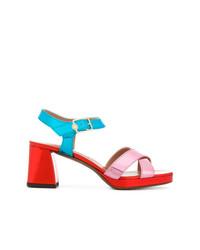 Sandales à talons en cuir multicolores L'Autre Chose