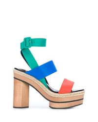 Sandales à talons en cuir multicolores Pierre Hardy
