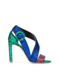 Sandales à talons en cuir multicolores Rupert Sanderson