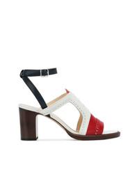 Sandales à talons en cuir multicolores Thom Browne