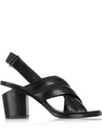 Sandales à talons en cuir noires Alexander Wang