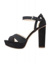 Sandales à talons en cuir noires Anna Field