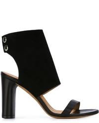 Sandales à talons en cuir noires IRO
