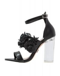 Sandales à talons en cuir noires LOST INK