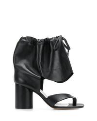 Sandales à talons en cuir noires Maison Margiela