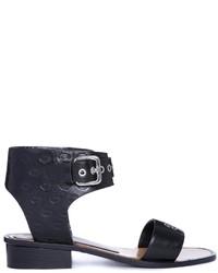 Sandales à talons en cuir noires Markus Lupfer