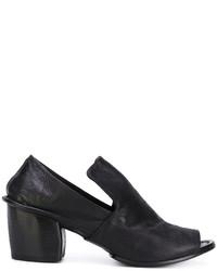 Sandales à talons en cuir noires Marsèll