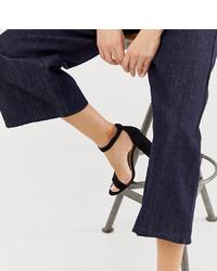 Sandales à talons en cuir noires Pimkie