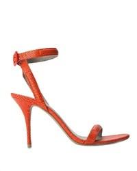 Sandales à talons en cuir orange Alexander Wang