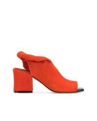 Sandales à talons en cuir orange Sigerson Morrison