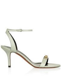 Sandales à talons en cuir ornées grises Proenza Schouler