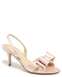 Sandales à talons en cuir roses