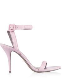 Sandales à talons en cuir roses Alexander Wang