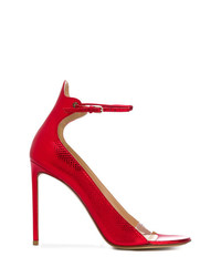 Sandales à talons en cuir rouges Francesco Russo