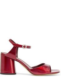 Sandales à talons en cuir rouges Marc Jacobs