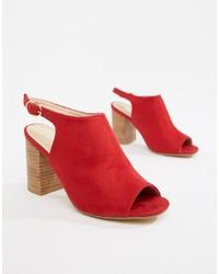 Sandales à talons en cuir rouges Park Lane