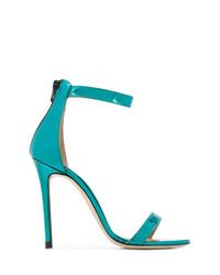 Sandales à talons en cuir turquoise Marc Ellis