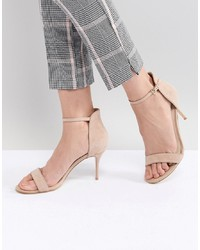 Sandales à talons en daim beiges Karen Millen
