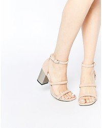 Sandales à talons en daim beiges Senso