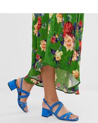 Sandales à talons en daim bleues Miss Selfridge