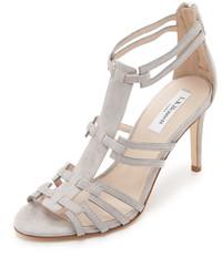 Sandales à talons en daim grises LK Bennett