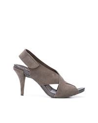 Sandales à talons en daim grises Pedro Garcia