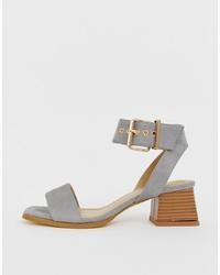 Sandales à talons en daim grises RAID