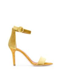 Sandales à talons en daim jaunes Via Roma 15