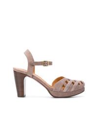 Sandales à talons en daim marron Chie Mihara