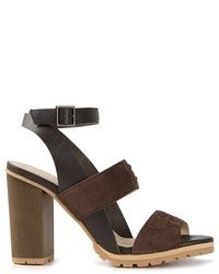 Sandales à talons en daim marron See by Chloe