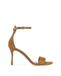 Sandales à talons en daim marron Tabitha Simmons