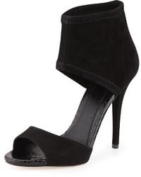 Sandales à talons en daim noires