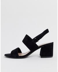 Sandales à talons en daim noires Aldo