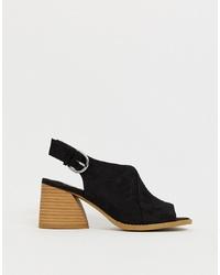 Sandales à talons en daim noires Faith