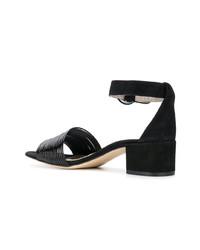 Sandales à talons en daim noires AGL