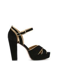 Sandales à talons en daim noires Sonia Rykiel