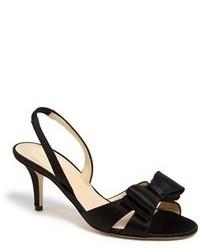 Sandales à talons en satin noires