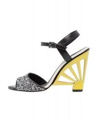 Sandales à talons jaunes Cosmoparis