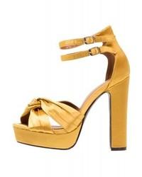 Sandales à talons jaunes Glamorous