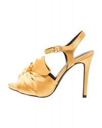 Sandales à talons jaunes New Look