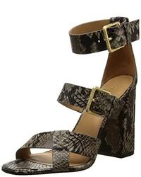 Sandales à talons marron foncé Calvin Klein