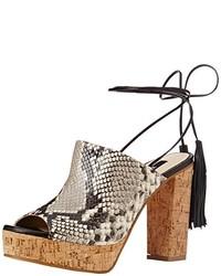 Sandales à talons marron Zinda