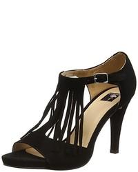 Sandales à talons noires Giudecca