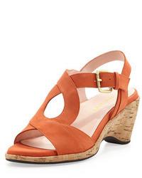 Sandales a talons orange original 1638663