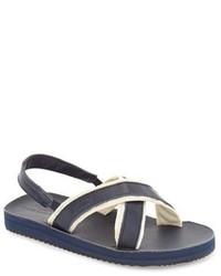 Sandales bleu marine et blanc