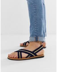 Sandales bleu marine ASOS DESIGN